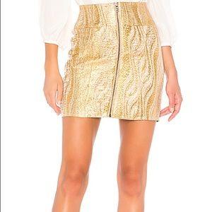 Metallic Mini Skirt in Gold BCBGMAXAZRIA